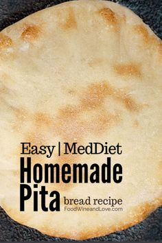 This is an easy and yummy recipe for How to Make Pita Bread at home. You can bake your bread on a stove top or in the oven. No Bread Diet, Best Keto Bread, Low Carb Bread, Bread Food, Easy Cake Recipes, Wine Recipes, Bread Recipes, Simple Recipes, Copycat Recipes
