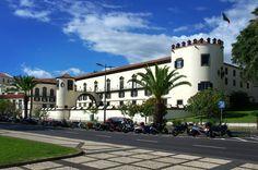 The São Lourenço Palace in Funchal Madeira #portugal #madeira #island #madeiratrip #funchal #fort #palace #saolourenco #marina #porto #tower #cannon #bluesky #street #streetphotography #nikon #nikon7000 #nikonphotography