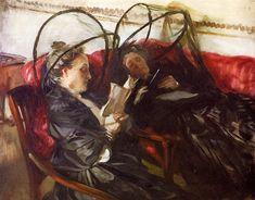 Mosquito Nets, 1908, John Singer Sargent Size: 71.7x57.1 cm Medium: oil, canvas