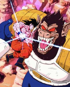 Dragon Ball Z, Dragon Ball Image, Goku E Vegeta, Goku Vs, Art Anime, Manga Anime, Cartoon Art, Jack Kirby, Famous Artists
