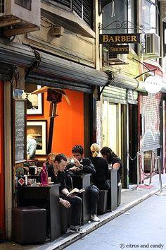 Melbourne lane-way culture. Melbourne Trip, Melbourne Laneways, Melbourne Australia, Australia Travel, Melbourne Victoria, Victoria Australia, Coffee Shop, New Urbanism, Best Cities