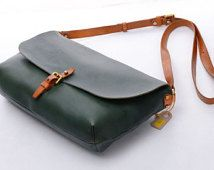 """11""""Women Leather Crossbody Bags  Ladies Green vintage sling soft leather shoulder satchel,tote bag,school purses,clutches,ipaid mini case"""