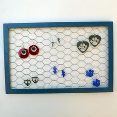 Blue Jewelry Display for Earrings by cathysuniquecreation on Etsy, $20.00