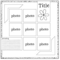 scrapbook sketches - Google | http://best-scrapbook-photos.blogspot.com