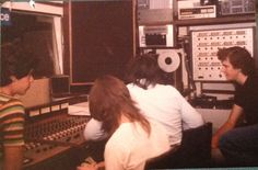 Pseudo Echo recording their first demo at Spellbound Studios in the late 70s