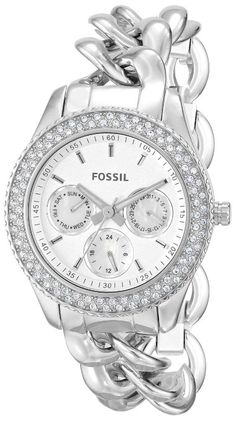 Fossil Women's  Stella Analog Display Analog Quartz Silver Watch: Fossil: Watches