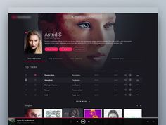 We're on our way to create (hope so!) the most beautiful and usable music streaming service design. Here's an artist page.  PS. Make sure to check our website at http://www.hologramdesign.co or Fac...
