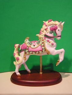 LENOX 2009 RUBIES and ROSES CAROUSEL HORSE sculpture NEW in Box w/COA
