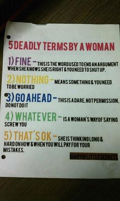 I read this to Patrick and he said that I have said all 5 of these in one sentence!!