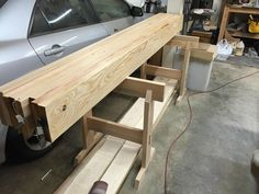 Putting sawhorses to good use