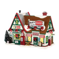 Amazon.com - Bob's Truck Stop | Department 56 Lighted Building (4035582) - Collectible Buildings