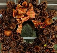 pine cone wreath - Google Search