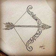 fabulous arrow and bow tattoos designs amazing tattoo ideas rh pinterest com bow and arrow tattoo ideas bow arrow tattoo couple