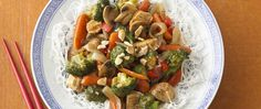 You can measure and organize all the ingredients for this dish the night before serving.  When you get home, toss this tempting stir-fry when the family is together.