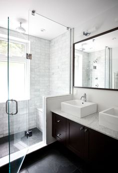 dream master bathroom- just a walk in shower with a seat and no tub!