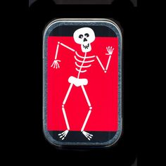 Dancing Skeleton Altoids Mint Tin