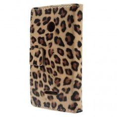 Lumia 435 leopardi puhelinlompakko