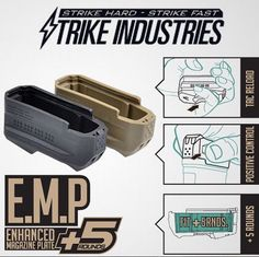 The new from Strike Industries adds 5 more rounds to your PMAGs Survival Rifle, Survival Gear, Ar Pistol Build, Ar Build, Tactical Equipment, Tactical Gear, Rifle Accessories, M4 Carbine, Ar Rifle