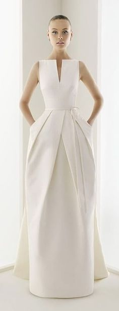 Wow! Structured White Elegant Dress