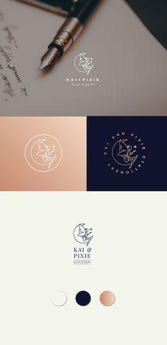 Logo design for Kai + Pixie by extrafin design