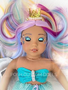 "READY TO SHIP! American Girl Doll Custom OOAK 18"" Deluxe Mermaid 