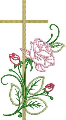 Simple Embroidery, Vintage Embroidery, Hand Embroidery, Rosa Stencil, Machine Embroidery Designs, Embroidery Patterns, Sketch 4, Altar Cloth, Brother Embroidery
