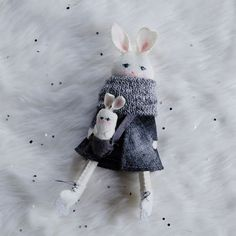 Erika Barratt Rabbit Ornament - Ice Skating Girl