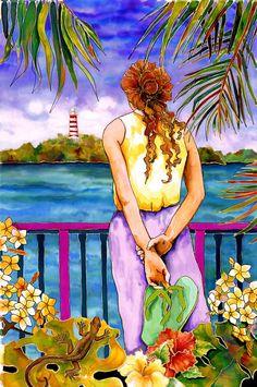 Barefoot Contessa Caribbean Artwork by Marjolein Scott-van der Hek