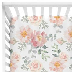 S dusty rose vintage floral crib bedding all things for Rose Nursery, Floral Nursery, Girl Nursery, Nursery Ideas, Nursery Decor, Girl Crib Bedding Sets, Girl Cribs, Girl Crib Sheets, Nursery Bedding