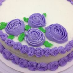 Getting a little better on my cake skills after a class at Michaels craft store.