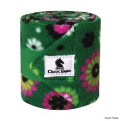 Classic Equine Polo Wraps Green Flower Polo Wraps, Classic Equine, Tack Shop, Pet Hair Removal, Stone Massage, Horse Supplies, Black Horses, Wrap Pattern, Dog Coats