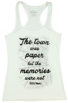 Paper Towns Paper Memories Girls Tank Top