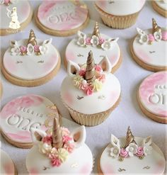 Ella's unicorn cookies and cupcakes