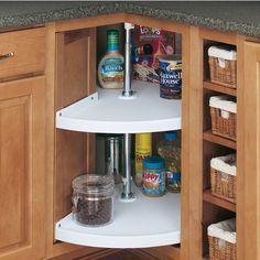 Blind Corner Lazy Susans In Vintage Metal Kitchen Cabinets: Rare Sighting |  Vintage Metal, Storage And Metals