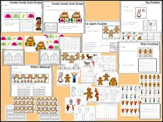 Gingerbread math and literacy stations
