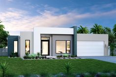 House and Land in Coffs Harbour Modern House Facades, Modern House Plans, Modern Architecture, Flat Roof House, Facade House, Bungalow House Design, Modern House Design, Exterior House Colors, Exterior Design