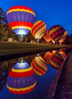 Glow Festival by Aric-Jaye Balloon Glow, Air Balloon Rides, Hot Air Balloon, Balloons Photography, Reflection Photography, In The Air Tonight, Vintage Neon Signs, Air Ballon, Fall Pictures