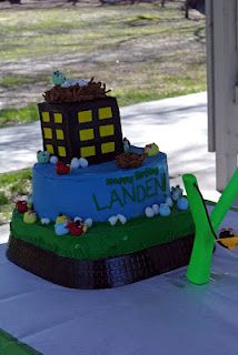 Angry Bird Birthday Cake & Party Ideas