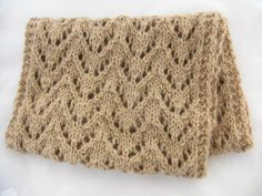 Etive Cowl knitting pattern by Littletheorem on Folksy. Chunky lace cowl made with handspun Alpaca yarn.