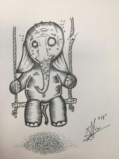 #illustration #sketch #elefant #snap #alinsart
