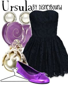 It may be Ursula-inspired, but there's purple involved!!