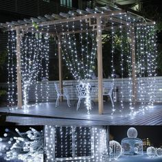 9.8*9.8ft Daylight White 8 Modes LED Curtain Fairy Lights for Weddings | LE®