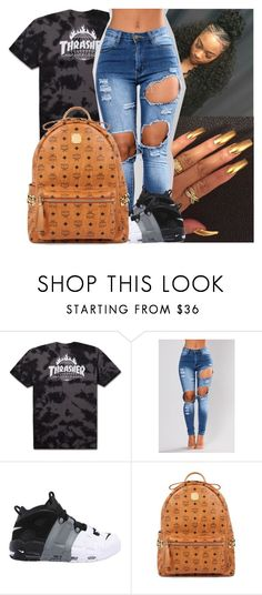 """""""Untitled #292"""" by issaxmonea ❤ liked on Polyvore featuring NIKE and MCM"""