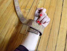 Homemade is Better: How to turn an old leather belt into a Cuff Bracelet