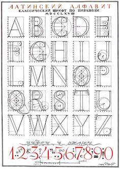 Russian architect and artist Iakov Chernikhov (1889-1951) developed Romain-du-roi and compass-centric glyph definitions for some alphabets in his book An Analysis of the Construction of Classical Typeface, which was posthumously published in 1958.