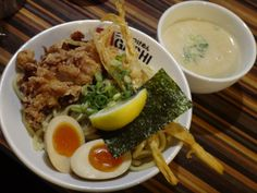 Tsukemen Topped the Fried Chicken