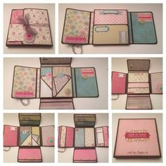 mini scrapbook album tutorial - Google Search