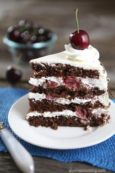 Black Forest Cake Recipe {Chocolate Cherry Cake}