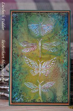 Molding paste & Art Journey stamp