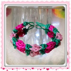 Rosebud Rubber Band Bracelet Valentine by OnceUponACraft4U on Etsy, $2.49